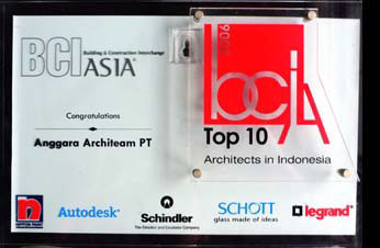 THE BEST TOP TEN ARCHITECT IN INDONESIA 2008